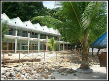 Camayan Beach resort facade day